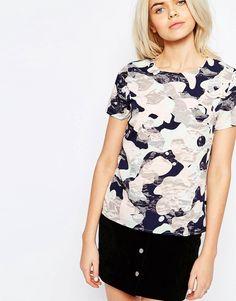 Image 3 ofSugarhill Boutique Harriet Top In Camo Print