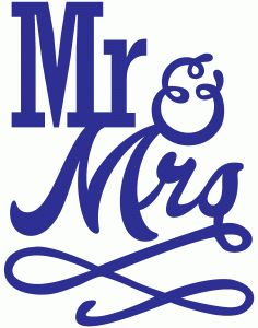 Silhouette Online Store - View Design #56360: mr and mrs flourish
