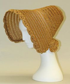 1830's straw bonnet