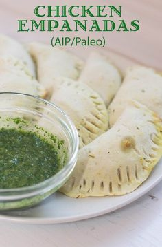 Chicken Empanadas with Chimichurri (AIP/Paleo)