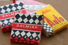 Old Finnish candy boxes.