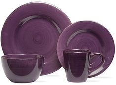 Sonoma Purple Dinnerware Collection. Complete the décor in your kitchen with the best color for accessories. If purple is your thing, this purple dishware works. #purpledishes #purpledishware #funkthishouse #purplekitchen #affiliatelink