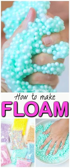 So machen Sie Floam Slime (mit VIDEO) - Slime-y relaxation - diy-craft Le Slime, Slimy Slime, How To Make Floam, How To Make Diy, Toddler Crafts, Crafts For Kids, Diy Crafts, Asmr, Floam Recipe