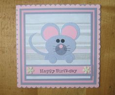 Punch Art, mouse by Carolynn - Cards and Paper Crafts at Splitcoaststampers
