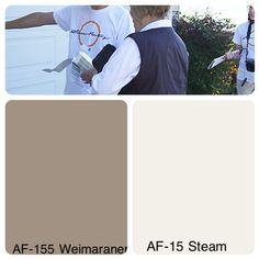 Exterior color combo Exterior Trim, Exterior Colors, Exterior Paint, Wall Paint Colors, Gray Paint, Farm Projects, Laundry Room Remodel, Benjamin Moore Colors, Paint Chips