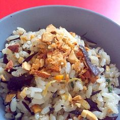炊き込みご飯にアーモンドのトッピング - 6件のもぐもぐ - ベジタリアン 炊き込みご飯 by Lunedemiel