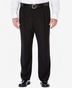 8f8d560c3df7 Men s Big   Tall Eclo Stria Classic-Fit Pleated Hidden Expandable Waistband  Dress Pants