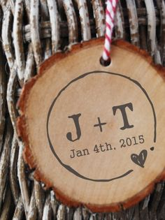 Rustic Wedding Stamp Custom Round Initials and by ThePrintMint