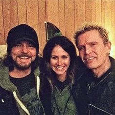 Ed and Billy Idol and Lindsay Cross