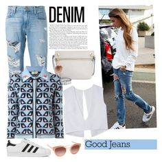 """""""denim"""" by lushxoxo ❤ liked on Polyvore featuring Frame Denim, adidas, Tommy Hilfiger, Fendi, Accessorize, AQS by Aquaswiss, women's clothing, women, female and woman"""
