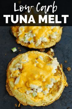 Looking for a low carb lunch? Try this low carb tuna melt! It's only got 5 grams of net carbs. #tunamelt #lowcarb Salmon Dishes, Fish Dishes, Fish Recipes, Lunch Recipes, Keto Recipes, Tuna Salad Ingredients, Tzatziki Recipes, Tuna Melts, Healthiest Seafood