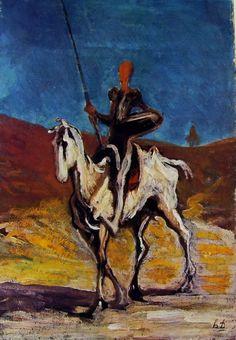 Don Chisciotte, olio su tela, Neue Pinakothek, Monaco