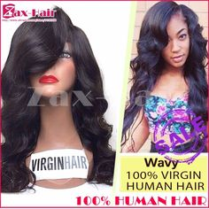 Stocked full lace human hair wigs wavy lace front wig for black women cheap glueless full lace wig 100% human hair grade 6A sale