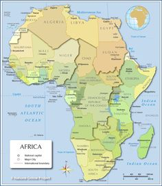 africa map - Free Large Images
