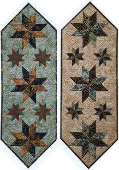 Mini Stars Tablerunner was designed as a tool to teach beginner level foundation paper piecing. Table Runner And Placemats, Table Runner Pattern, Quilted Table Runners, Small Quilt Projects, Quilting Projects, Quilting Designs, Place Mats Quilted, Quilted Table Toppers, Miniature Quilts