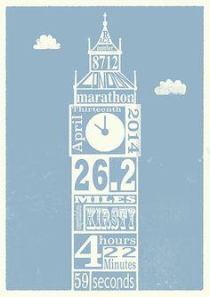 2014 London Marathon print by www.paintedmouse.com
