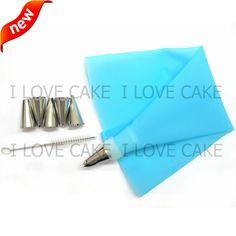 10 '' pastelaria saco de confeiteiro Piping creme de confeiteiro ferramentas set confeiteiro Piping bicos bolo ferramentas cupcake ferramentas de decoração do bolo bakeware wilton alishoppbrasil