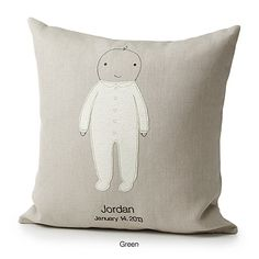 The perfect nursery pillow for design snobs. And it can be personalized, to boot.