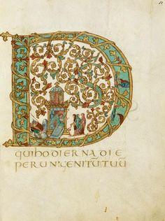 Vintage Illuminated Manuscript Print Large Letter D Medieval Manuscript, Medieval Art, Illuminated Letters, Illuminated Manuscript, Illumination Art, Book Of Kells, Celtic Art, Calligraphy Letters, Letter Art