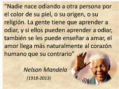 Frase de Nelson Mandela sobre el amor