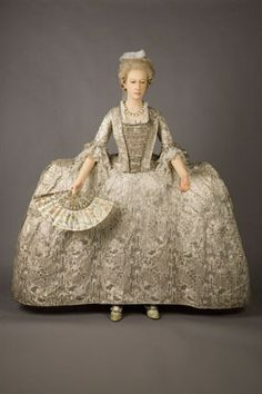 Silver court mantua c.1760-1765 from Historic Royal Palaces