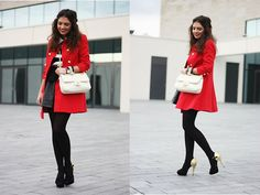 Red girl (by Anni ***) http://lookbook.nu/look/4229785-red-girl