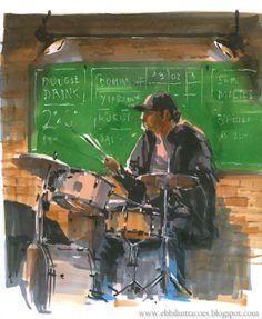 Urban Sketchers: Sketchjazz!