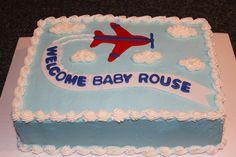 Airplane baby shower cake