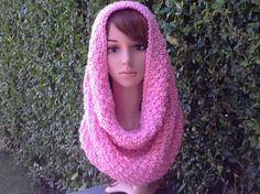A personal favorite from my Etsy shop https://www.etsy.com/listing/248237000/handmade-knit-cowl-scarf-infinity-hood