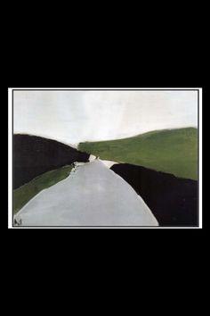 """Nicolas De Staël - """" La route d'Uzès """", 1954 - Huile sur toile - 60 x 81 cm…"""