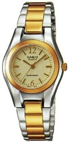 Casio #LTP1253SG-9A Women's Two Tone Standard Analog Quartz Watch Casio. $29.07. Mineral Crystal. Quartz Movement. 30 Meters / 100 Feet / 3 ATM Water Resistant. 26mm Case Diameter. Save 27% Off!
