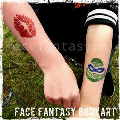 Glittertattoos by Face Fantasy BodyArt