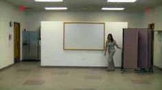 Using a Screenflex room divider is so easy that one person can set up 6 classrooms in just minutes. Easy Room Divider Set Up - YouTube #portablewall #roomdivider #portablepartition