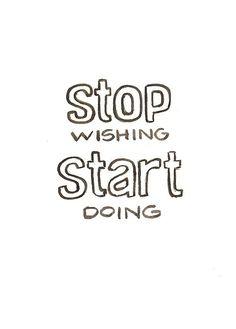 Just start something... xx