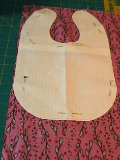 Baby bib tutorial and pattern..