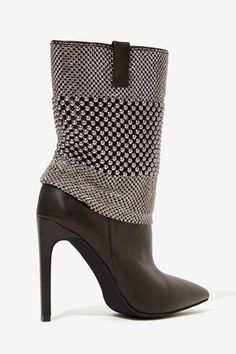 Jeffrey Campbell Fluidity Studded Leather Boot - Heels | Jeffrey Campbell | Shoes | All | Moto Boots | All