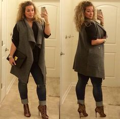 Cheap High Fashion Women S Clothing Referral: 3019219450 Curvy Girl Outfits, Curvy Girl Fashion, Petite Fashion, Look Fashion, Autumn Fashion, Casual Outfits, Fashion Outfits, Fasion, High Fashion