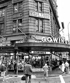 Gowings Building, corner of George Street and Market Street Sydney. Owned by the Gowings family for 3 generations. Old Pictures, Old Photos, Australian Photography, Sydney City, Cities, Historical Architecture, Blue Mountain, Historical Pictures, Sydney Australia