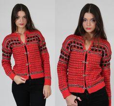 Vintage 70s FAIR ISLE Wool Sweater by LotusvintageNY
