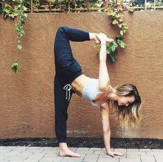 twisted half moon #yoga