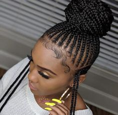 Ghana Weaving Wig / Braided Wig / Braids / Wig for Women / Shuku Wig - Best Cornrow Hairstyles Box Braids Hairstyles, Braided Ponytail Hairstyles, Braided Hairstyles For Black Women, Braids Wig, Braids For Black Hair, My Hairstyle, Twist Braids, African Hairstyles, Girl Hairstyles