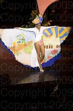 Curacao Miss Universe 2009 National Costumes Miss Universe 2009, Miss Universe National Costume, Friendly Islands, Emerald Blue, Nassau Bahamas, Miss Usa, Paradise Island, Beauty Pageant, Vibrant