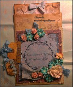 Vintage card made by DT-Pernilla http://blog.pysseldags.com/2014/01/digitalt-gummi.html Digitalt   Gummi :) http://shop.pysseldags.se/