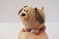 DIY Crochet Kit Tan Brown Dog by ThePudgyRabbit on Etsy