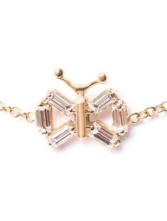Matchstick Diamond & yellow-gold butterfly bracelet on shopstyle.com