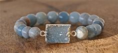 Aquamarine bracelet, druzy drusy bracelet, blue druzy, may trends, graduation gifts for her, 2015 trends, jewelry for teens, summer trends
