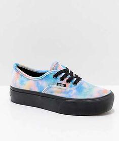4781f55fdd24 Vans Tie Dye Velvet Authentic Platform 2.0 Skate Shoes Platform Vans
