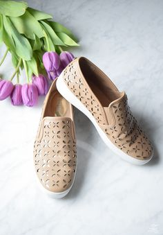 The best spring shoes MICHAEL Michael Kors Keaton Leather Floral Perforated Slip On Sneakers - 1-1