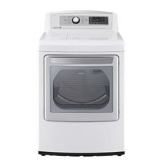 LG Electronics 7.3 cu. ft. Electric Dryer with Steam in White-DLEX5680W at The Home Depot