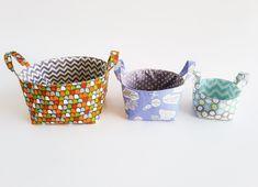 Fabric Basket Patterns/ 3 different sizes/ Storage patterns
